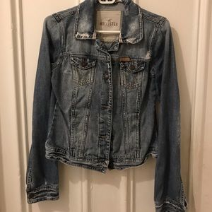 Distressed Hollister jean jacket Size L
